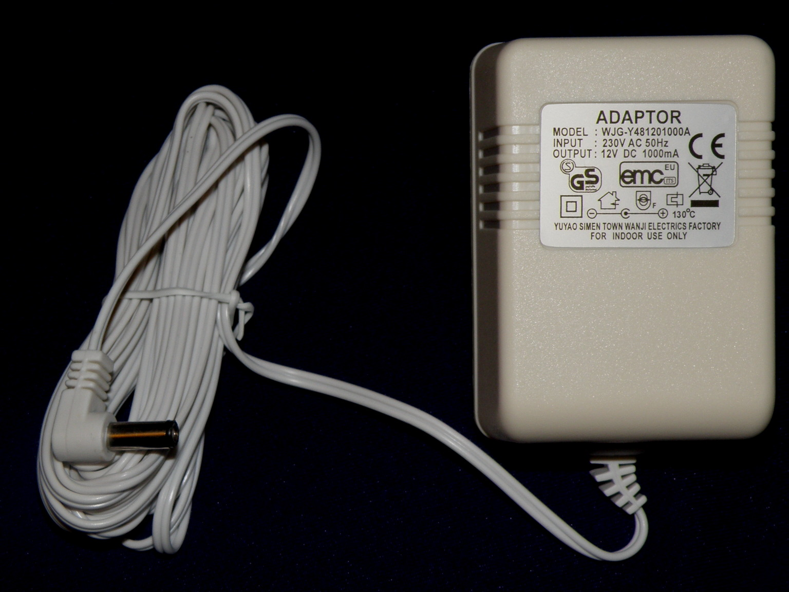120V/60Hz 12VDC 1A Power Adapter for Electric Curtain Rods